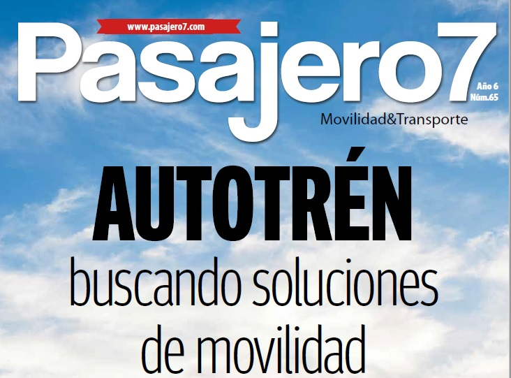Autotrén es artículo de portada en revista Pasajero 7